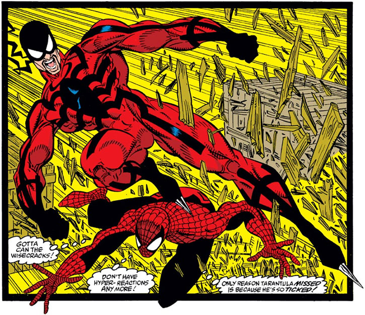Tarantula (Alvarez) vs Spider-Man (Marvel Comics)