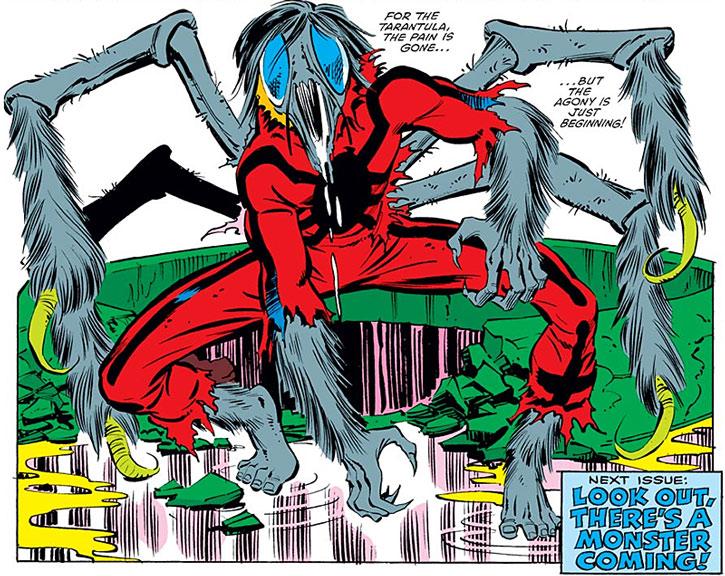 Tarantula (Anton Rodriquez) mutated into a spider