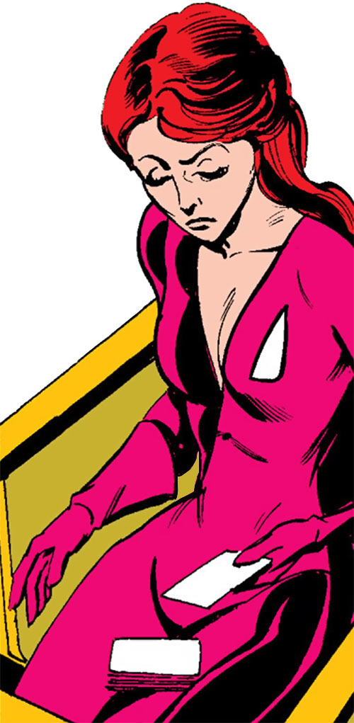 Tarot of the Hellions (New Mutants character) (Marvel Comics) fiddling with her deck