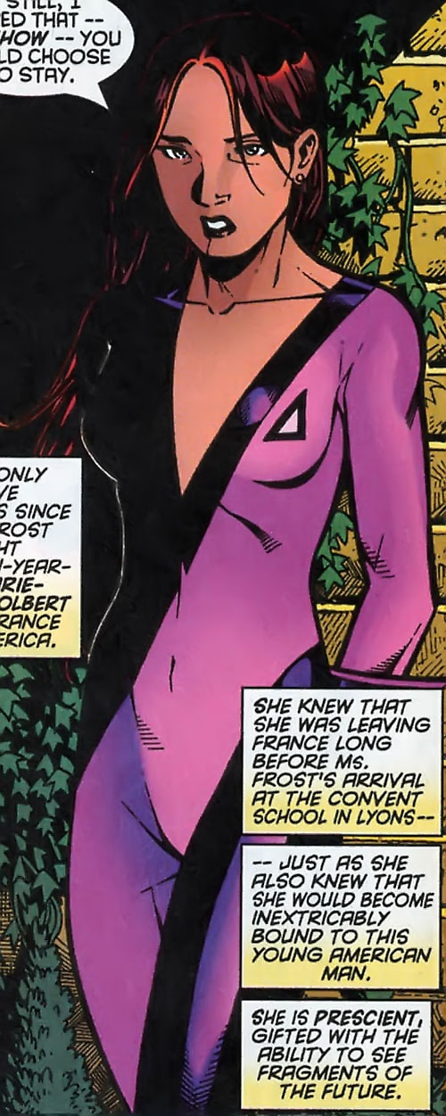 Tarot of the Hellions (New Mutants character) (Marvel Comics) looking shy