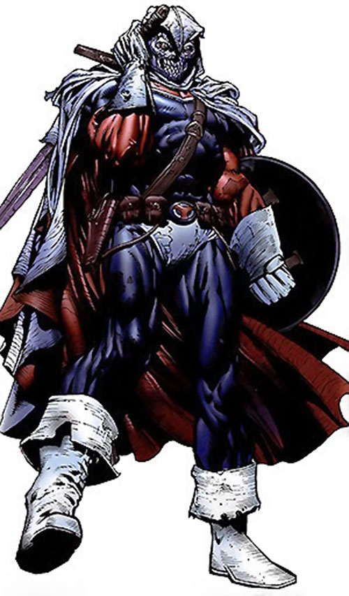 Taskmaster in a weathered costume