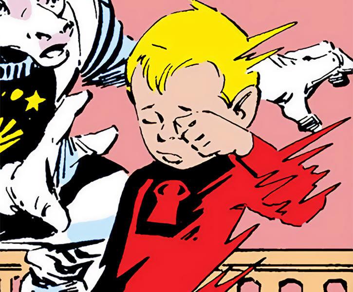 Tattletale (Marvel Comics) (Franklin Richards with Power Pack) dream form dispersing Kofi