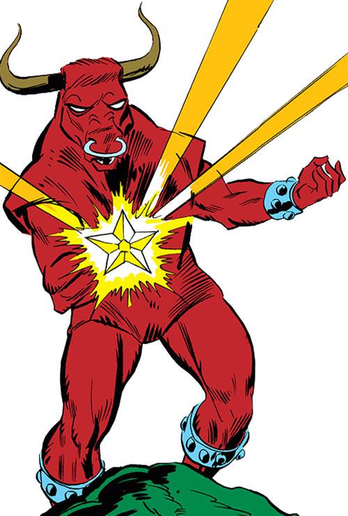 Taurus (Cornelius van Lunt) firing his special blaster