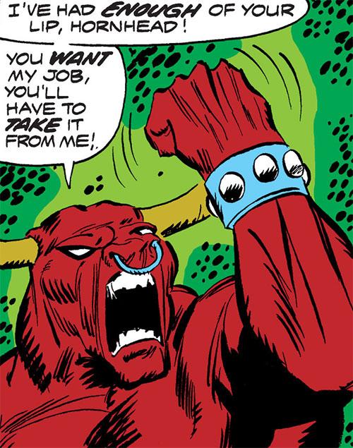 Taurus (Cornelius van Lunt) yelling