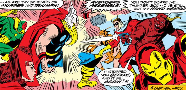 Taurus (Cornelius van Lunt) shooting Thor