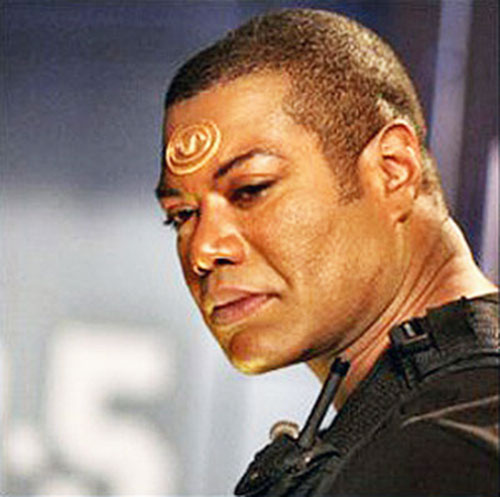 Teal'C (Christopher Judge in Stargate) with short hair