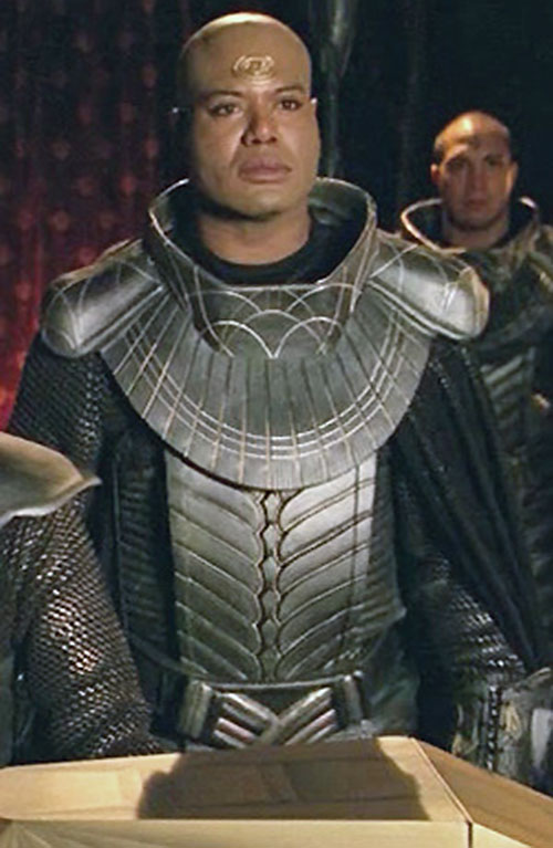 Teal'C (Christopher Judge in Stargate) in Jaffa armor