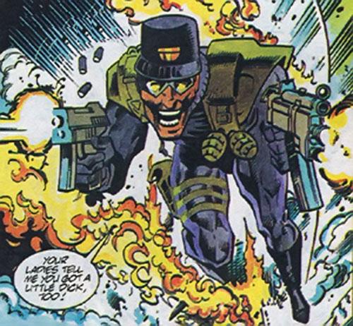 Tech-9 of the Blood Syndicate (Milestone Comics) dual-wielding sub-machineguns