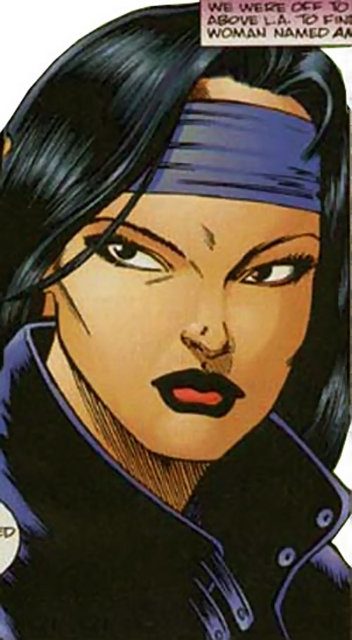 Tech (Lela Cho of the Solution) (Ultraverse Malibu comics) face closeup