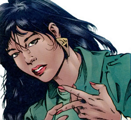 Tech (Lela Cho of the Solution) (Ultraverse Malibu comics) in a suit