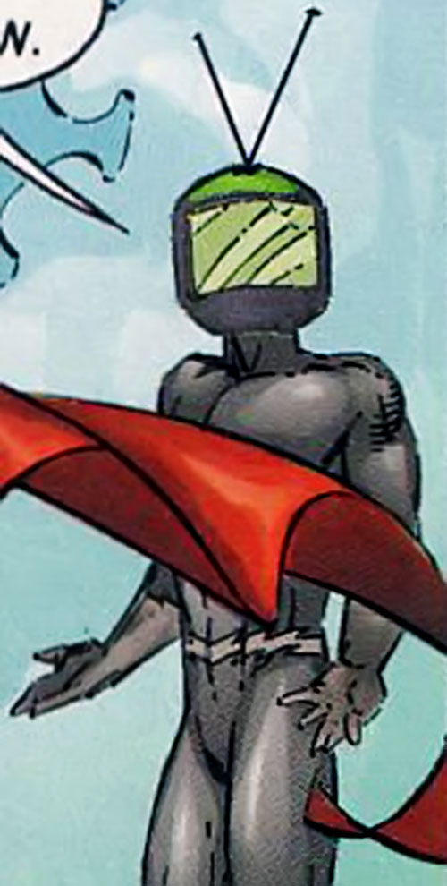 Televillain (Supreme enemy) (Image Comics) shrugging