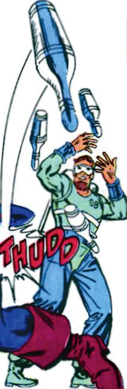 Tenpin of the Death-Throws (Hawkeye enemy) (Marvel Comics) juggling pins