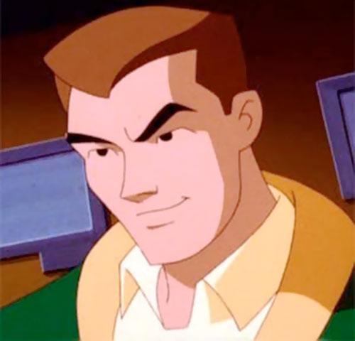 Terminal of the Jokerz (Batman Beyond enemy) unmasked face closeup