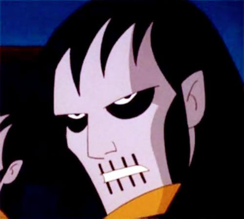 Terminal of the Jokerz (Batman Beyond enemy) mask closeup