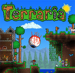 Terraria cover illustration