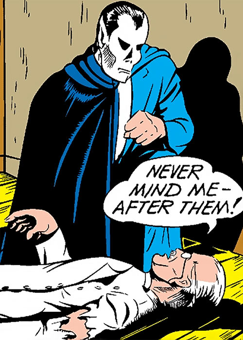 The Terror (Timely Comics) with his cape on the side