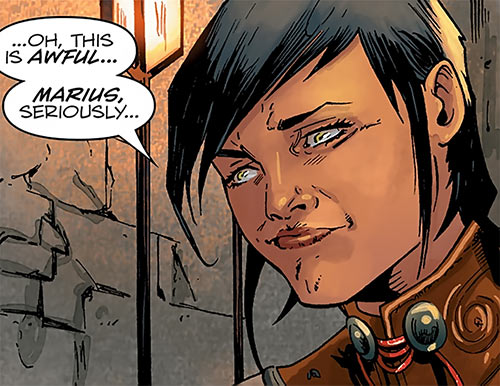 Tessa the Magekiller (Dragon Age comics) cute expression