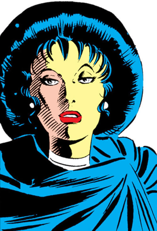 Tessa of the Hellfire Club (Marvel Comics X-Men) face closeup