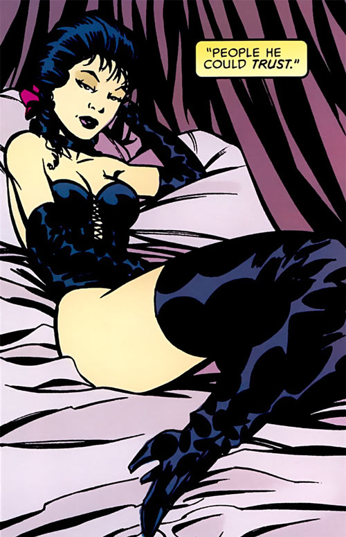 Tessa of the Hellfire Club (Marvel Comics X-Men) posing