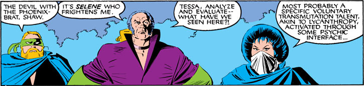 Tessa of the Hellfire Club (Marvel Comics X-Men) with Leland and Shaw