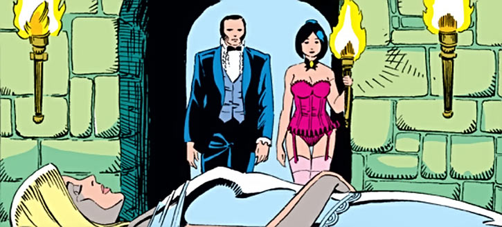 Tessa of the Hellfire Club (Marvel Comics X-Men) Emma Frost comatose