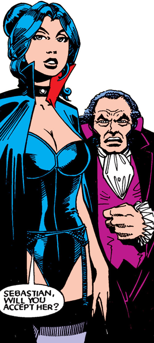 Tessa of the Hellfire Club (Marvel Comics X-Men) and Sebastian Shaw