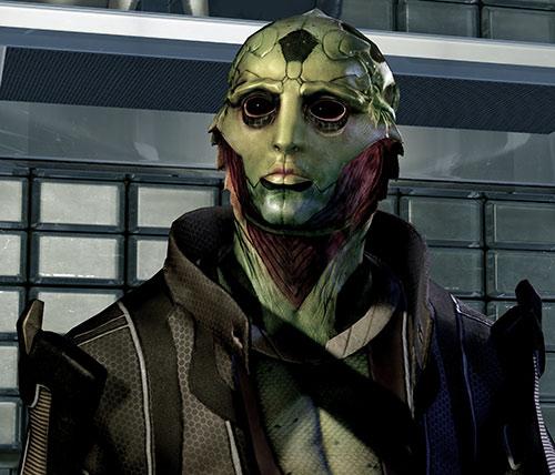 Thane Kryos (Mass Effect) low angle portrait