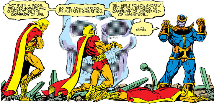 Thanos kills Adam Warlock