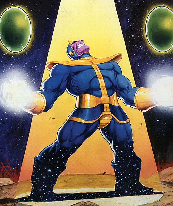 Thanos with gems of power