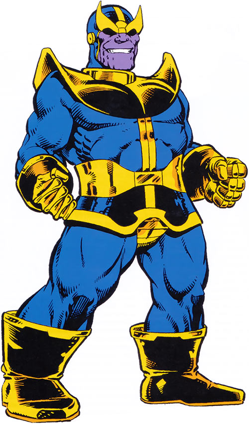 Thanos in the 1983 Marvel Comics handbook