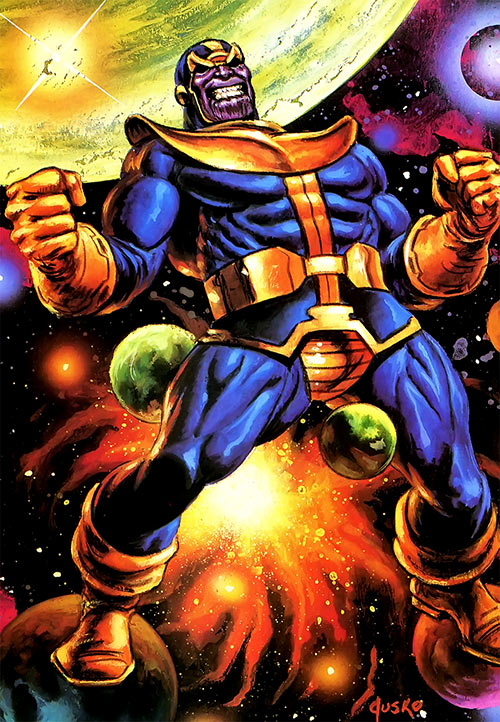 Thanos (Marvel Comics) by Jusko masterpieces painting