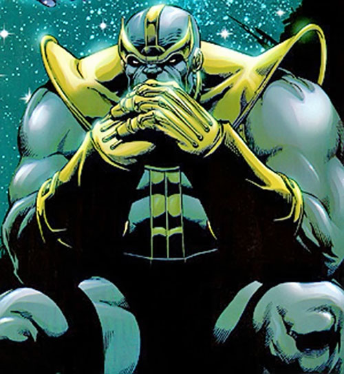 Thanos (Marvel Comics) pondering