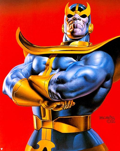 Thanos (Marvel Comics) by Boris Vallejo