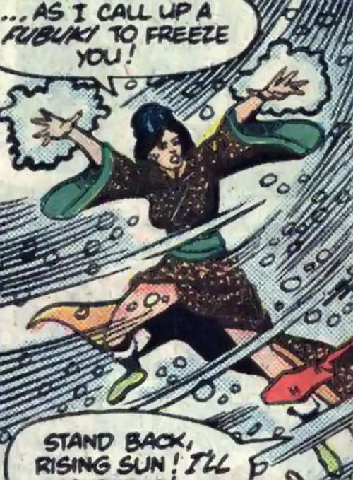 Yuki Onna summons a fubuki blizzard