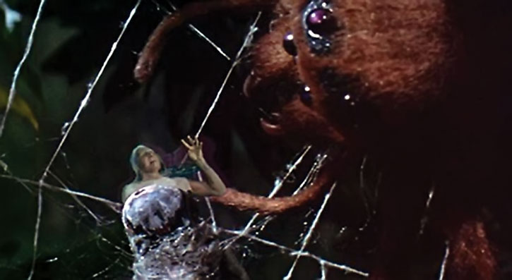 Andre Delambre (Al Hedison) attacked by a spider