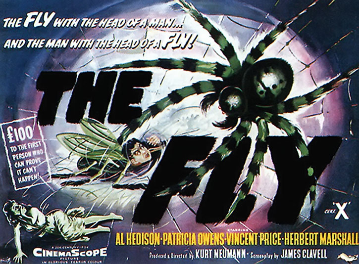 The Fly 1958 movie poster