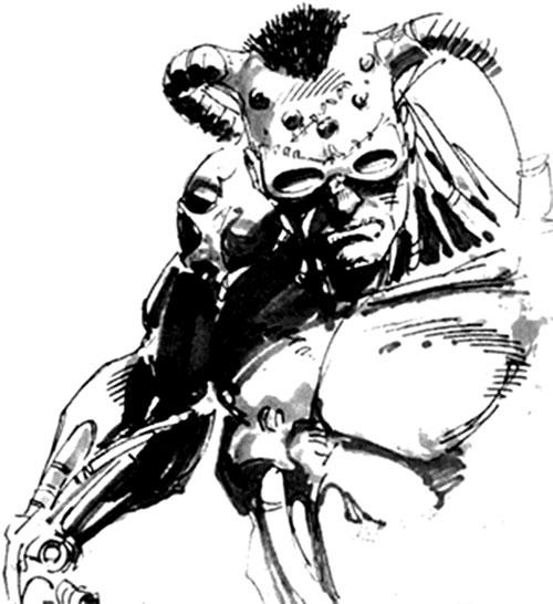 The Machine (Dark Horse comics) B&W sketch