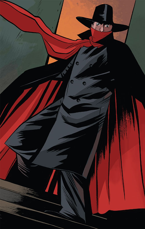 The Shadow (Matt Wagner's Year One) (Dynamite Comics) with his Dracula cape