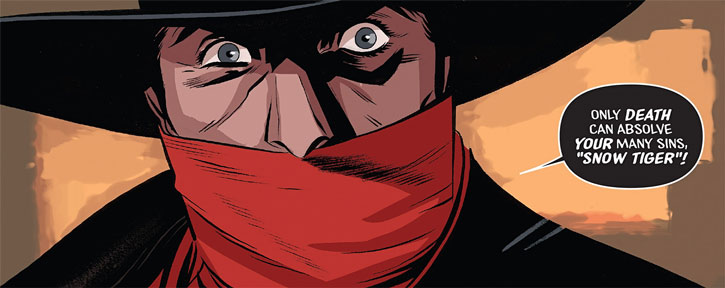 The Shadow (Matt Wagner's Year One) (Dynamite Comics) eyes closeup