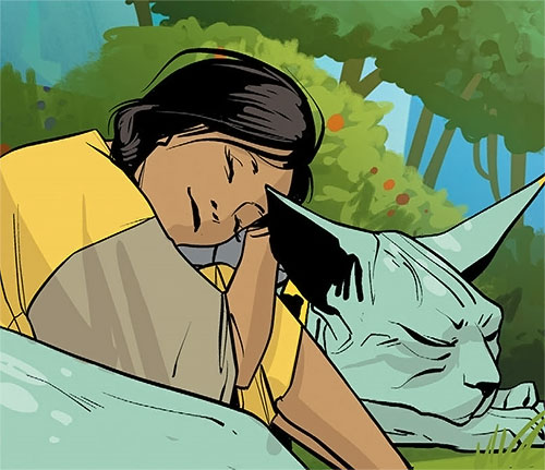 Lying Cat and Sophie (Saga comics Image)