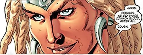 Theana (Wonder Woman enemy) (DC Comics) face closeup