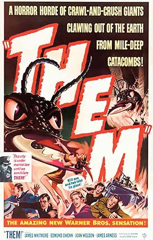 Them! atomic giant ants movie poster