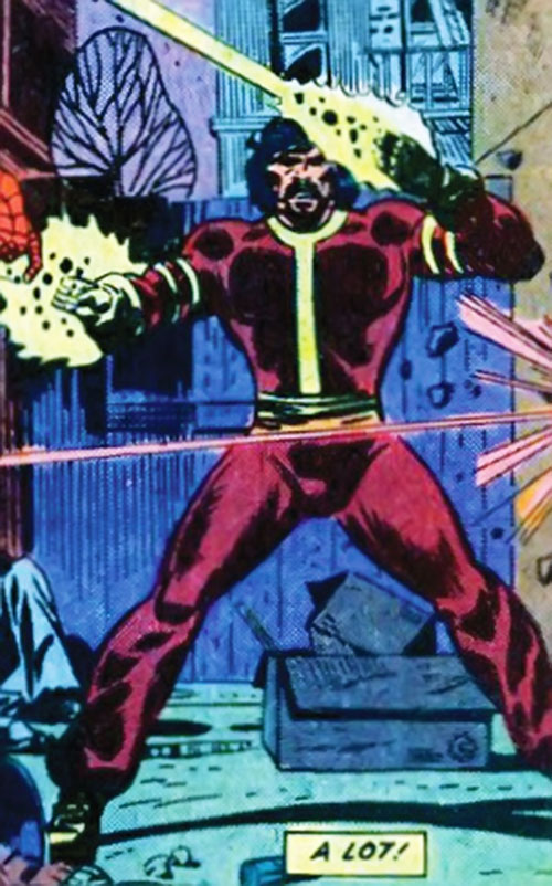 Thermo (Marvel Comics) shooting beams from his hands