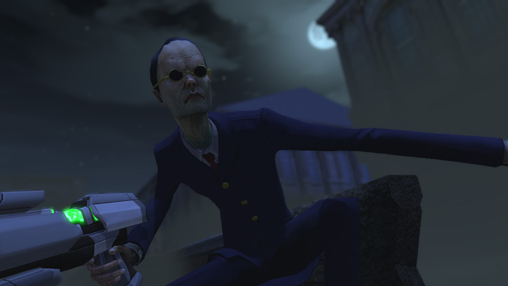 Thin Men in XCom 2012 under the moon with slender limbs