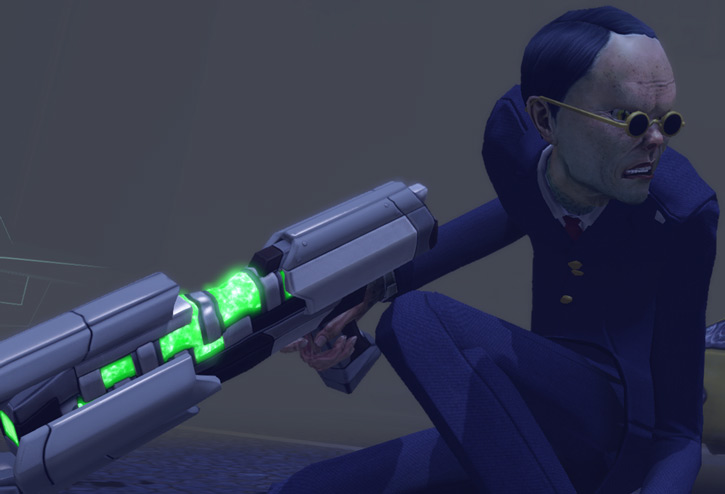Thin Men in XCom 2012 - in the fog with a plasma carbine