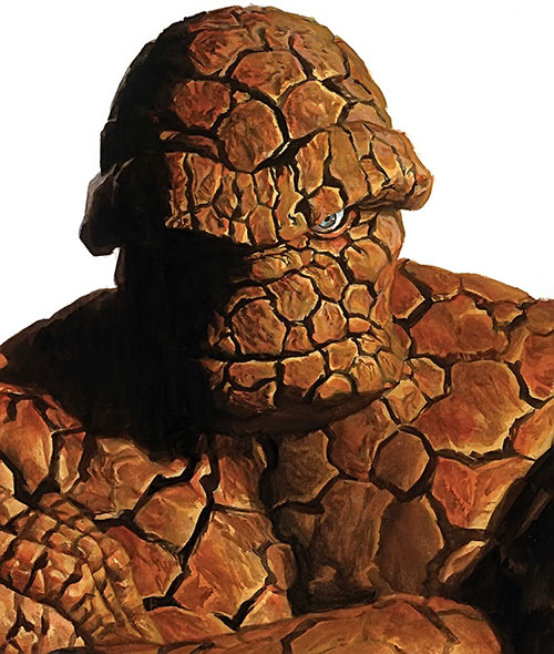 The Thing Marvel Comics Fantastic Four painted portrait by Alex Ross