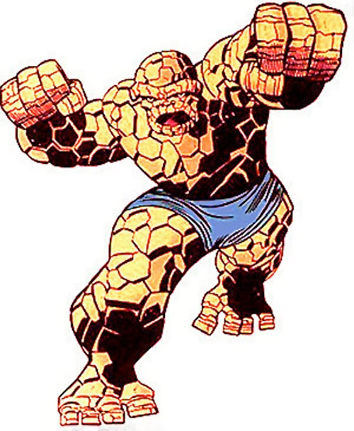 Classic Thing of the Fantastic Four (Marvel Comics) combat pose