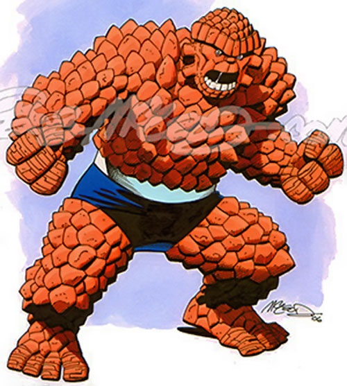 Thing of the Fantastic Four in spiky form (Marvel Comics), by Bob McLeod
