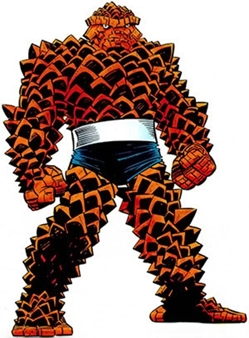 Thing of the Fantastic Four in spiky form (Marvel Comics)