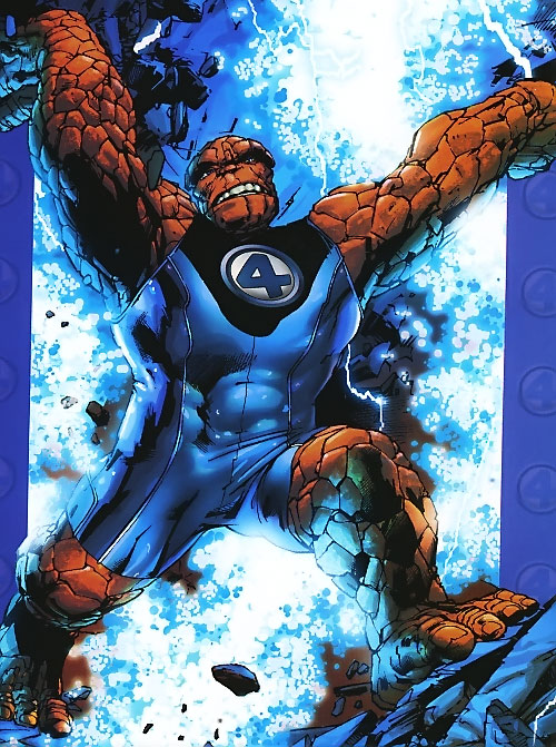 Ultimate Thing (Ultimate Marvel Comics) in a blue singlet